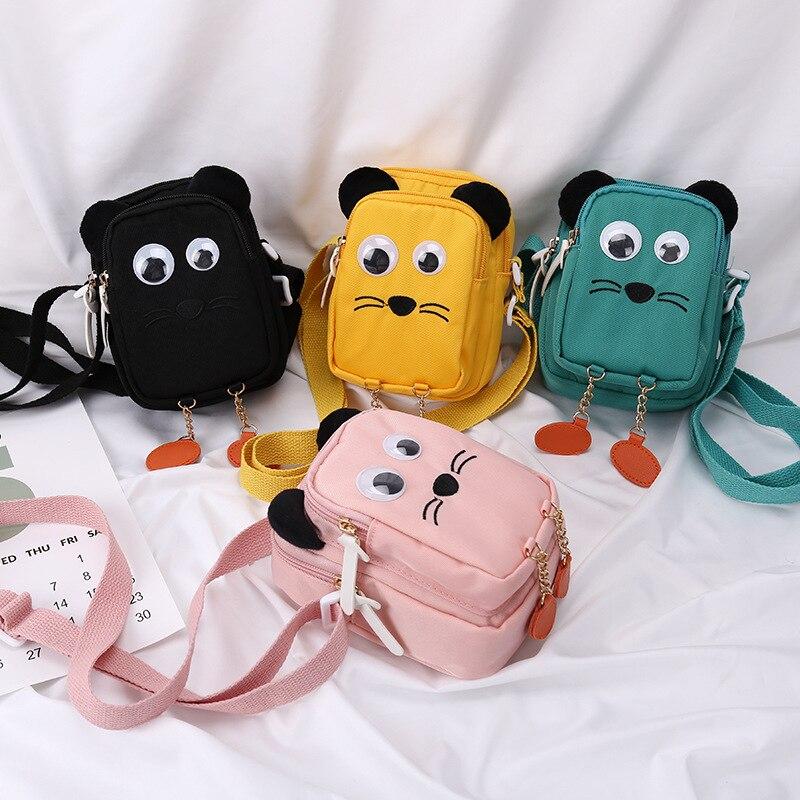 2020 New Cartoom Cute Cat Crossbody bag for Student Purse Shoulder Bag Girl Boy Handbag for Children Female Massage Bags Package