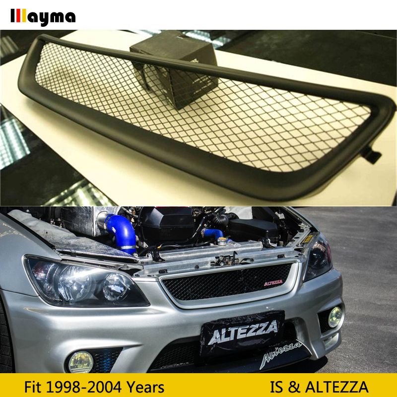 No logo Fiber glass Front bumper grille For Toyota Altezza AS200 AS300 <font><b>RS200</b></font> For Lexus IS200 IS300 FRP matte black primer grill image