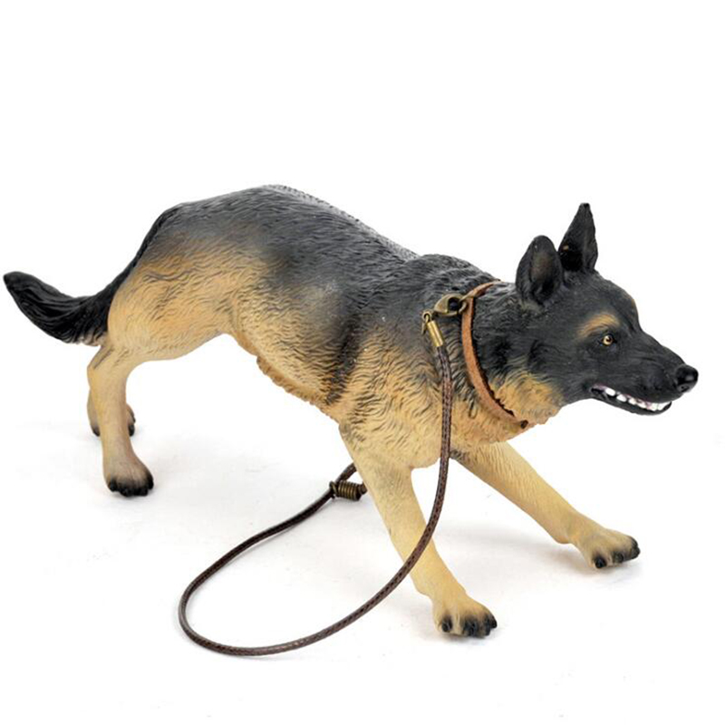 Movable pet <font><b>dog</b></font> <font><b>1/6</b></font> <font><b>scale</b></font> police <font><b>dog</b></font> movable doll accessories military soldier German shepherd toy mini animal model gift image