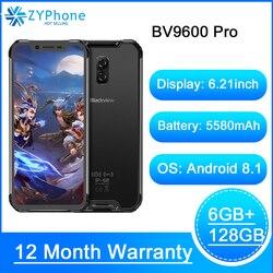 Blackview BV9600 Pro оригинальный IP68 Водонепроницаемый прочный смартфон 6 ГБ 128 Android 8,1 19:9 FHD AMOLED 4G на открытом воздухе мобильный телефон