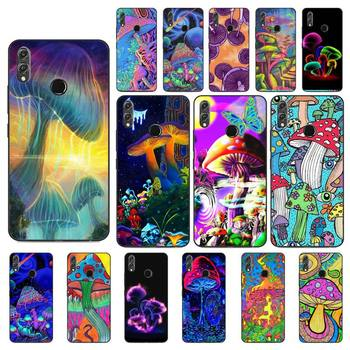 YNDFCNB Trippy Mushroom Phone Case For Huawei Honor 8X 8A 9 10 20 Lite 30Pro 7C 7A 10i 20i image