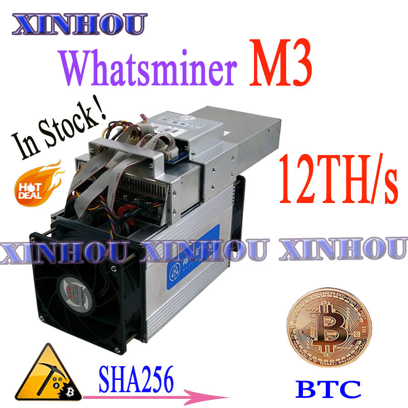 24 Hour Delivery! Asic Miner WhatsMiner M3X 11.5-13TH/S 1.8-2.1kw BTC Mining Better Than M3 M21S M20S S9 S17 T17 S15 T17e T3 T2T
