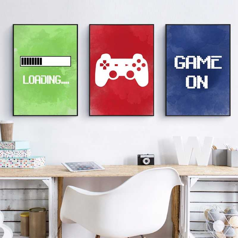 Splspl Video Gaming Room Posters Abstract Home Decoration Canvas Painting Funny Party Game Wall Art Pictures For Boys Room Decor Painting Calligraphy Aliexpress