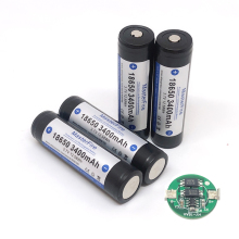 цена на MasterFire Original Protected 3400mah 18650 3.7V 12.58Wh Rechargeable Battery Lithium Batteries with PCB Made in Japan
