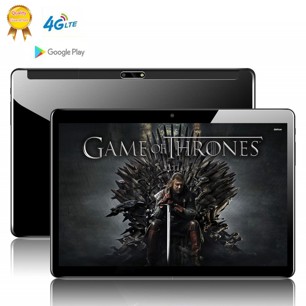 10.1 Inch 2.5D Screen Tablet Deca Ten 10 Core 8GB 128GB ROM Dual SIM Card 4G LTE 8.0 MP GPS Android 9.0 Google IPS The Tablet Pc