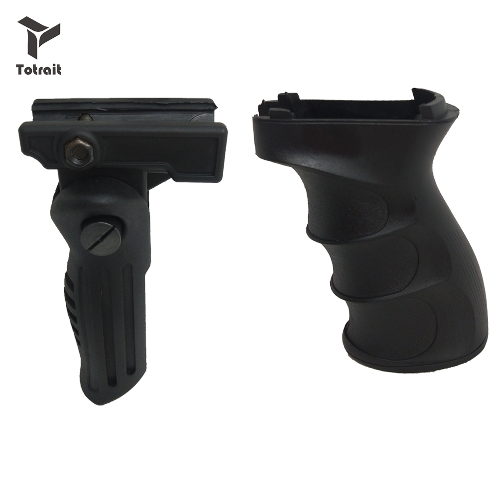 TOtrait Tactical AK47 Vertical Grip ABS Handle Foregrip 20mm Rail Pistol Rifle Grip  Picatinny Hunting Accessories Set