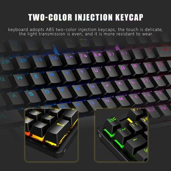 RedThunder Red Switch Mechanical-Keyboard 98-Key New Layout Gaming-Keyboard Up to 15 Cool Lighting Effects Designed for Games 5