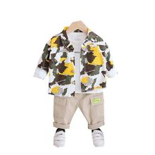 Children Clothes Spring Autumn Baby Boys Girls Camouflage Jacket T Shirt Pants 3Pcs/sets Kids Infant Clothing Casual Sportswear iyeal newest 2018 spring autumn baby girls clothes sets denim jacket tutu dress 2 pcs kids suits infant children clothing set