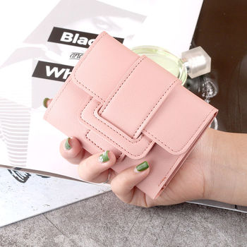 Wallet Women 2020 Lady Short Women Wallets Red Color Mini Money Purses Small Fold PU Leather Female Coin Purse Card Holders embroidery star women wallet two fold small pu leather fashion mini female coin purse card holder money bags carteira feminina