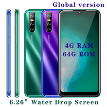 A40 smartphones 4G RAM 64GB ROM Quad Core Global Version Face Unlock Android Screen Mobile phones Celulares 13MP HD Rear Camera cheap BYLYND Detachable Face Recognition Up To 48 Hours 3200 Adaptive Fast Charge Smart Phones Bluetooth 5 0 Capacitive Screen