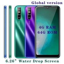 A40 smartphones 4g ram 64 gb rom quad core versão global rosto desbloquear telefones celulares de tela android câmera traseira 13mp hd