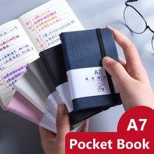 A6/a7 grosso caderno bolsos mini portátil estudante nota livro papelaria diário bonito agenda agenda agenda agenda material escolar de escritório