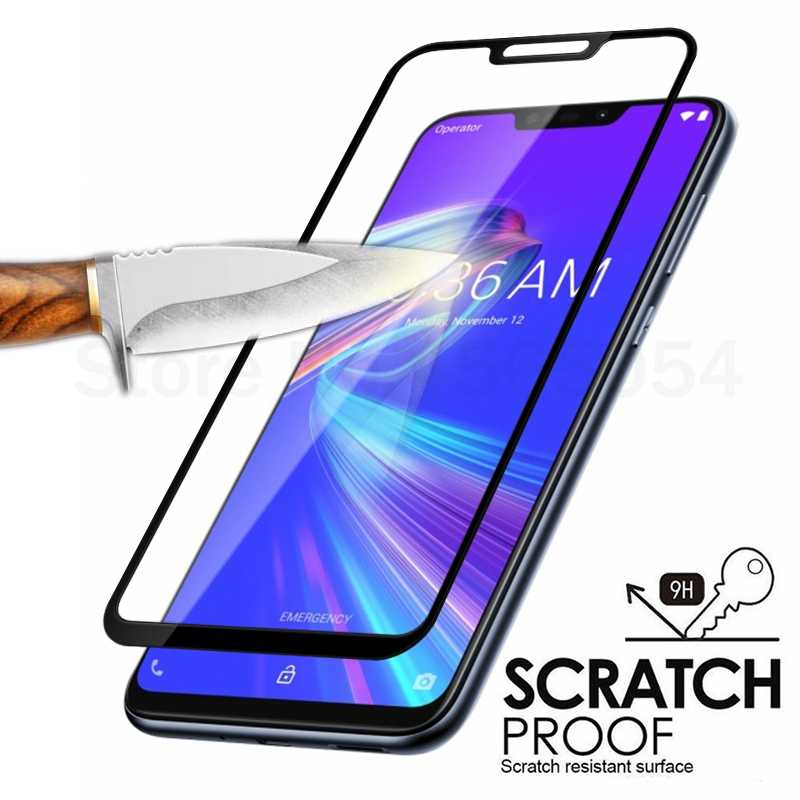Full Cover Tempered Glass For ASUS Zenfone Max pro M1 ZB602KL ZB601KL Max Pro M2 ZB631KL M1 ZB555KL Screen Protector Glass