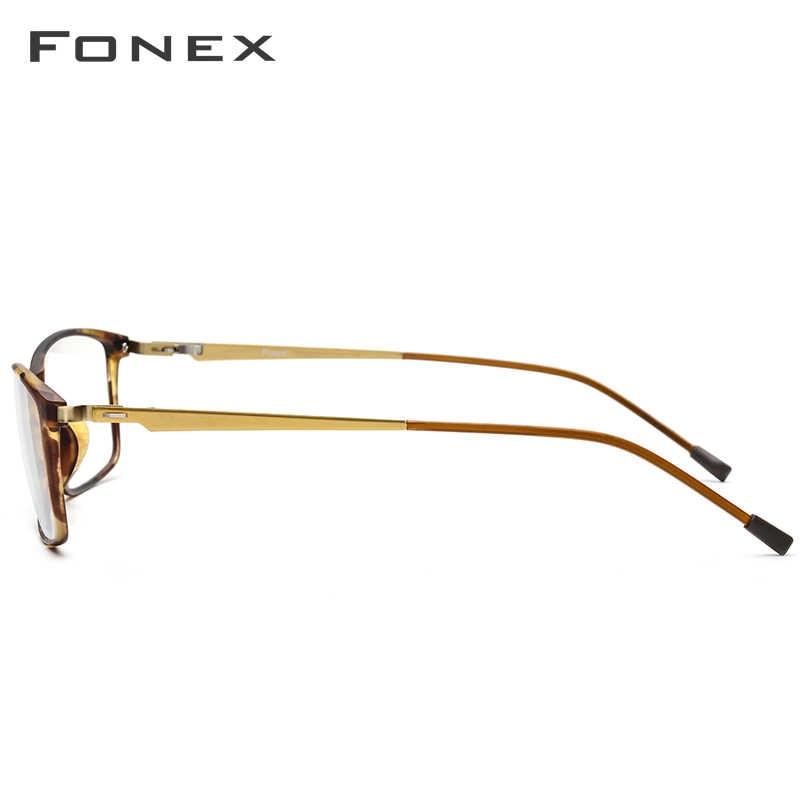 Fonex TR90 Hợp Kim Kính Gọng Nam Cận Thị Mắt Đơn Thuốc Kính Mắt Khung Hình 2019 Hàn Quốc Screwless Quang Kính Mắt 9855