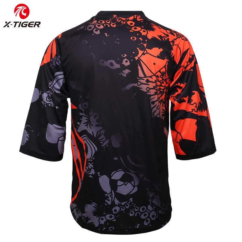 Koszulka x-tiger Pro DH koszulka rowerowa zjazdowa koszulka rowerowa górska wyścigi rowerowa odzież rowerowa letnia koszulka szybkoschnąca