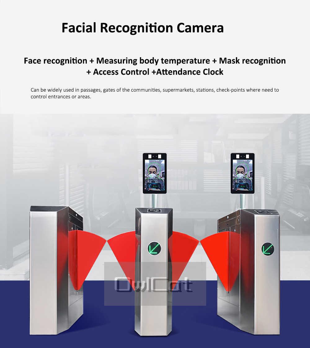 AI термальная камера распознавание лица Обнаружение температуры тела мониторинг камеры Голосовая сигнализация Контроль доступа лица посещаемость времени