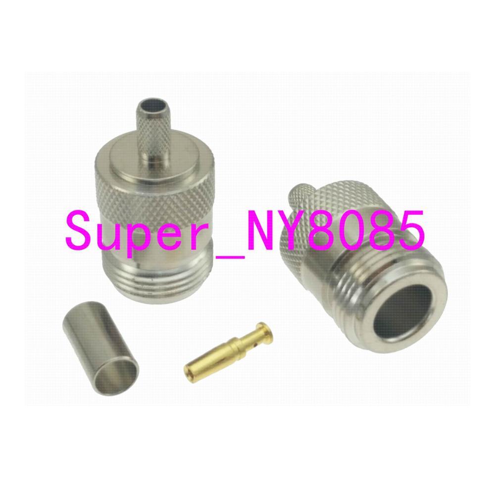 Connector N Female Jack Crimp RG58 RG142 LMR195 RG400 Cable RF Coaxial