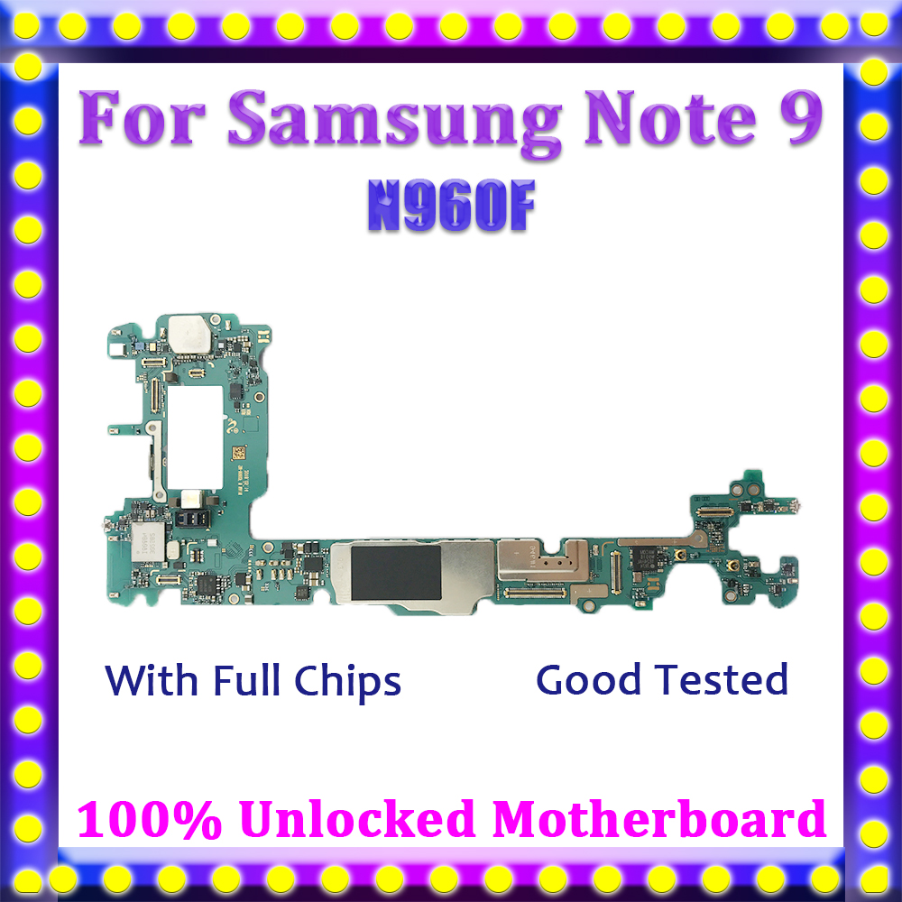 For Samsung Galaxy Note 9/Motherboard/N960f/100%unlocked Logic-Board With Android