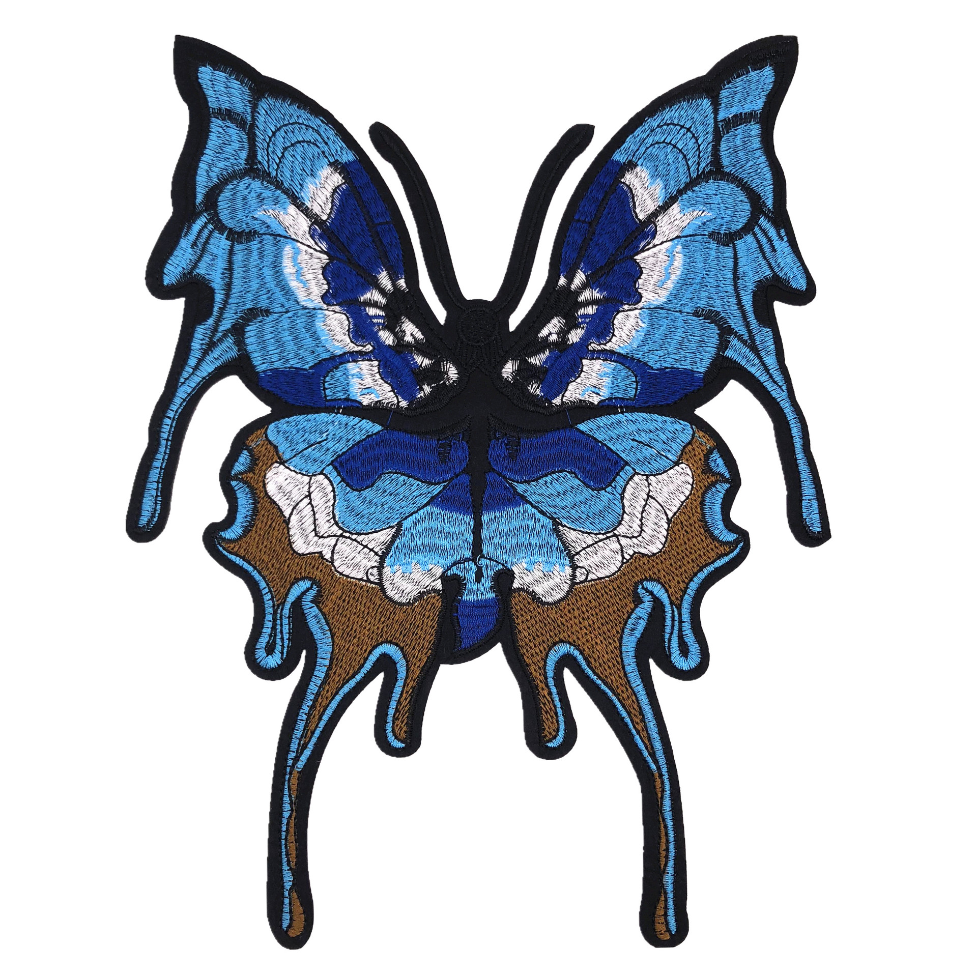 New Large Butterfly Cloth Patch Patch Clothing Accessories Embroidery DIY Computer Embroideringclothes Decals