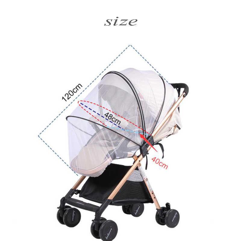 Wózek dziecięcy moskitiera sieć na owady akcesoria bezpieczna siatka Buggy szopka koszyk siatkowy moskitiera wózek na całą okładkę