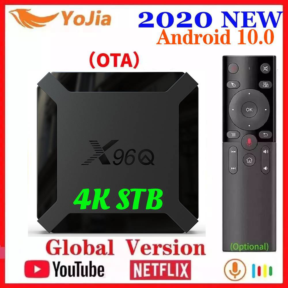 2020 NEW Android 10 Smart TV BOX Android 10.0 Allwinner H313 TVBOX X96Q Media Player 2G 16G Quad Core 2.4G Wifi Youtube Netflix