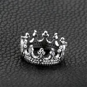 Image 2 - JewelryPalace Vintage Gothic Cubic Zirconia Tiara Crown Ring 925 Sterling Silver Rings for Women Jewelry Making Fashion Jewelry