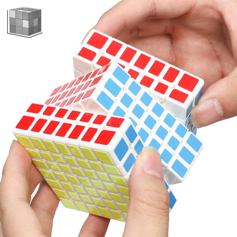 Qiyi Qixing 7X7X7 Tốc Độ Ma Thuật Hình Khối 7 Lớp Đen Stickerless Xếp Hình 7*7*7 đồ Chơi Giáo Dục Cho Trẻ Em Đồ Chơi Dành Cho Người Lớn