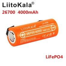 NEW LiitoKala Lii 40E 3.2V 26700 rechargeable LiFePO4 battery pack 4000mah lithium cell for 24V e bike powe +DIY Nickel sheets
