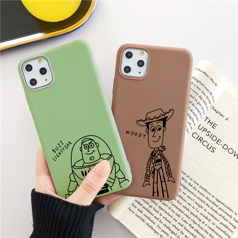 Cute Cartoon <font><b>Toy</b></font> <font><b>Story</b></font> Woody Phone Case For <font><b>iPhone</b></font> 11 Pro MAX SE 2020 2 TPU <font><b>Capa</b></font> Case For <font><b>iPhone</b></font> <font><b>6</b></font> 6S 7 8 Plus 5 5S X XS MAX XR image