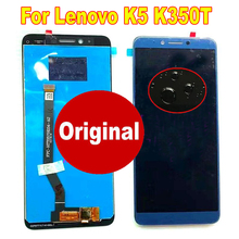 Оригинальный лучший датчик рабочего стекла, ЖК-дисплей, дигитайзер сенсорного экрана в сборе для Lenovo K5 K350t, панель мобильного телефона