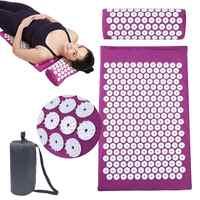 66*42cm Almofada Massageador Massagem Mat Acupressure Aliviar A Dor Do Corpo Pico Esteira de Massagem Acupuntura Yoga Mat com Pillow