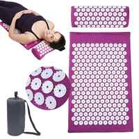 66*42cm Massager Cushion Massage Mat Acupressure Relieve Back Body Pain Spike Mat Acupuncture Massage Yoga Mat with Pillow