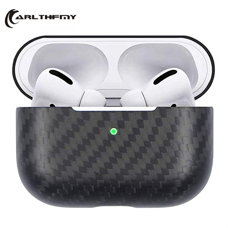 2020 New Real For AirPods Pro 3 Carbon Fiber Case Slim-Fit Dustproof Shockproof Wireless Charging Case For Apple For Airpods Pro