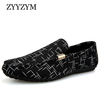ZYYZYM Men Loafers 2020 Spring Summer Shoes Casual Light Canvas Youth Breathable Fashion Flat Footwear