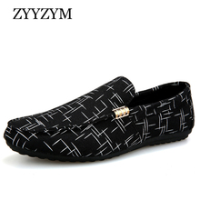 ZYYZYM Men Loafers Shoes Casual 2019 Spring Summer Light Canvas Youth Breathable Fashion Flat Footwear