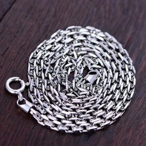 """Image 3 - Gerçek 925 ayar gümüş 3mm dikdörtgen Link zinciri kolye 18 """"20"""" 22 """"24"""" 26 """"güzel takı"""