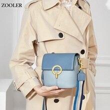 ZOOLER 2019 new bag female genuine leather handbags women's shoulder bag patchwork fashion designed small Cow leather bags#CK208 sales zooler 2017 new designed woman bag 100