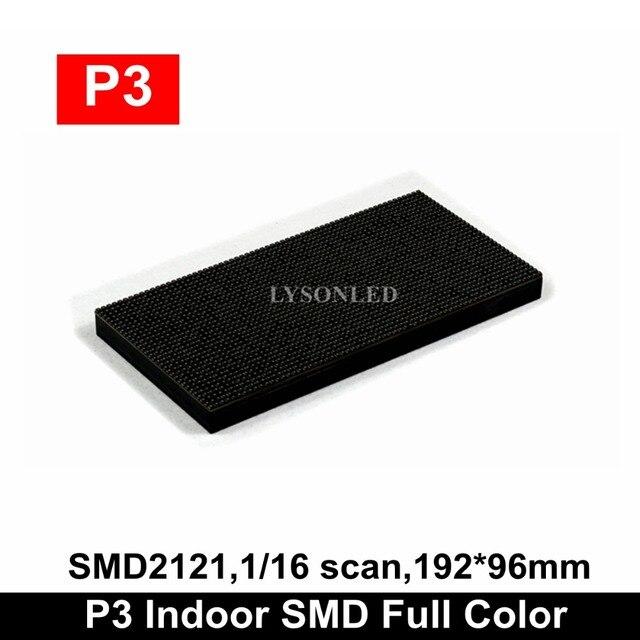 Módulo LED P3 para interiores SMD, a todo Color, para pantalla de vídeo HD, 64x32 píxeles