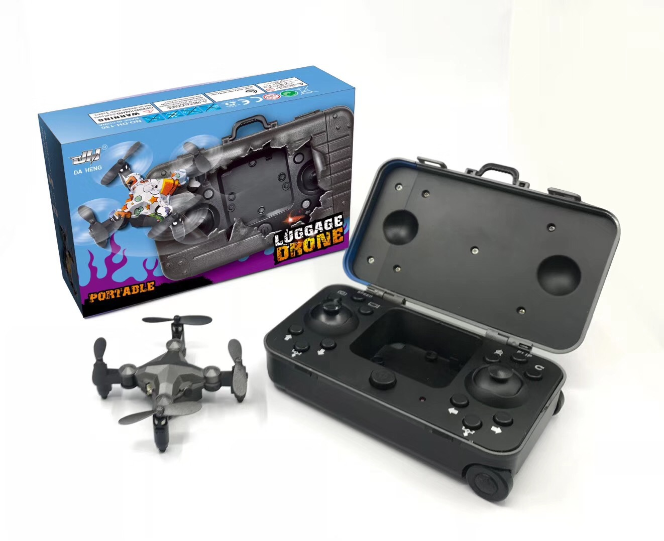 2.4G WIFI DH-120 Luggage drone mini folding quadcopter remote control altitude hold real-time transmission fpv 4-axis RC drone 2
