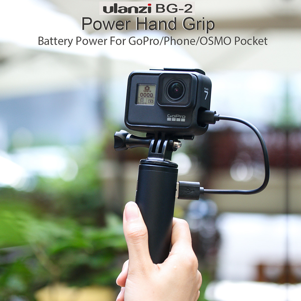 Ulanzi BG-2 6800 MAh Camera Power Bank Handle Rechargeable Battery Hand Grip For Gopro Hero 8/7/6/5 Osmo Pocket OSMO Action