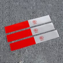 Car Door Stickers Auto Warning Mark Reflective Strips Tail Rear Reflective Tape Driving Safety Sticker(China)
