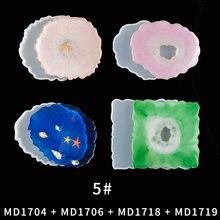 9 шт coaster Силиконовые формы для эпоксидной смолы diy geode