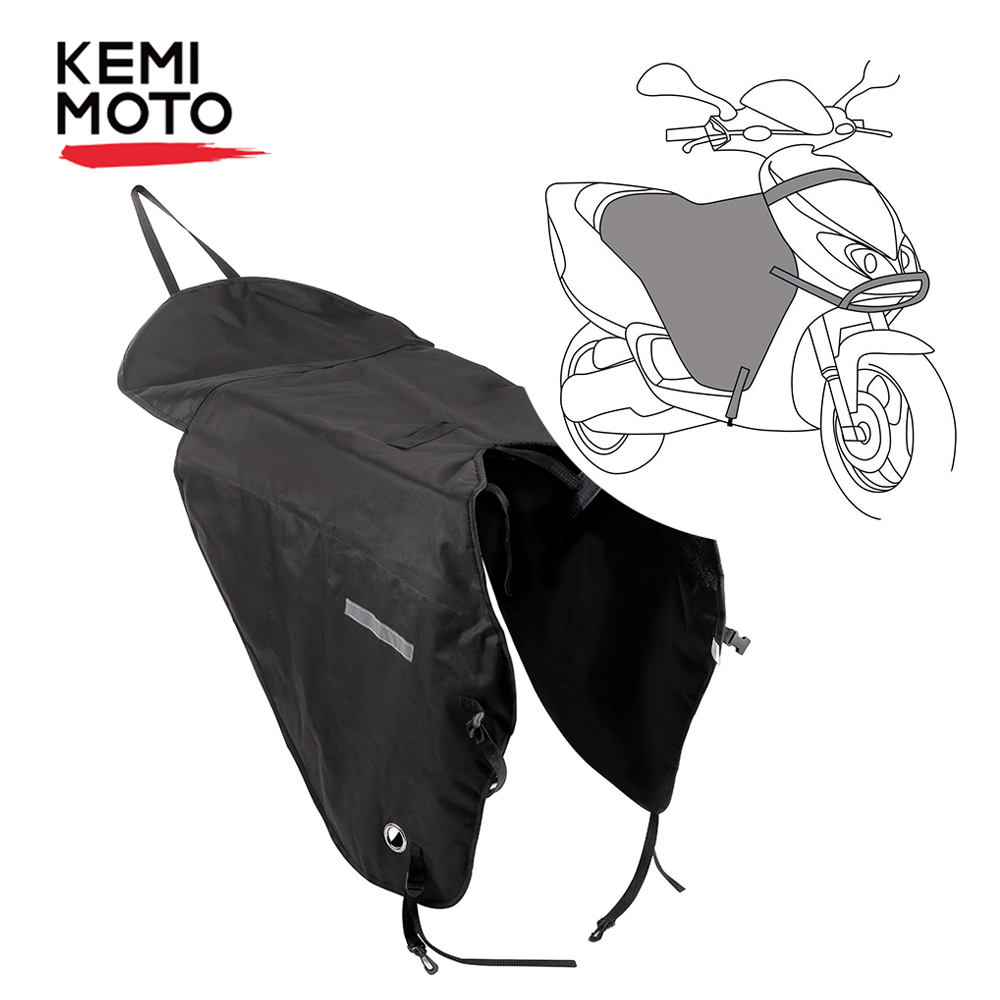 KEMiMOTO Motorcycle Blanket Knee Warmer Leg Cover For Scooters Rain Wind Protection Waterproof Winter Quilt For Vespa GTS GTV