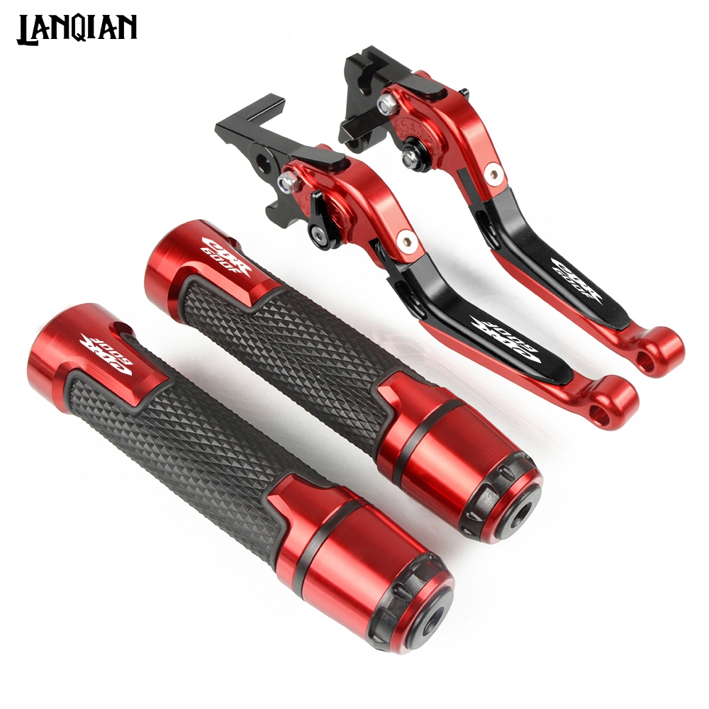 For Honda CBR600F Motorcycle Brake Clutch Lever & 7/8 Handlebar Grips CBR 600F 1991 1992-2007 2011 2012 2013 Accessories