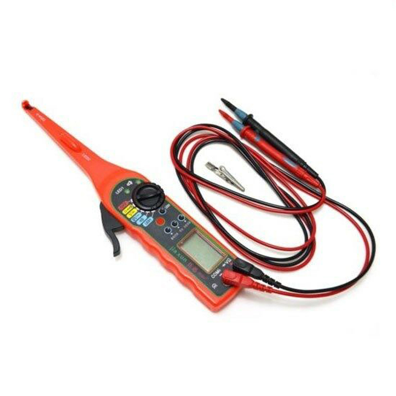 1pc Automobile Circuit Tester Multimeter Probe DC 0V-30V Red Multi-Function Car Auto Power Electric Circuit Tester