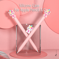Für Apple Bleistift 1 2 Fall Schutzhülle IPad Bleistift Fall Nicht-slip Schutz Fall Für Apple bleistift 2 cartoons Silikon Hülse