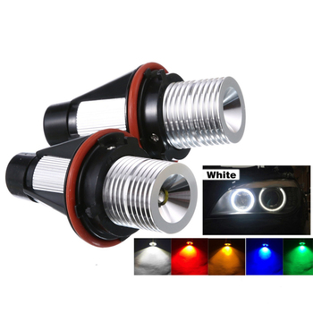 2Pcs Error Free LED Angel Eyes Marker Lights Bulbs For BMW E39 E53 E60 E61 E63 E64 E65 E66 E87 525i 530i xi 545i M5 car lights image