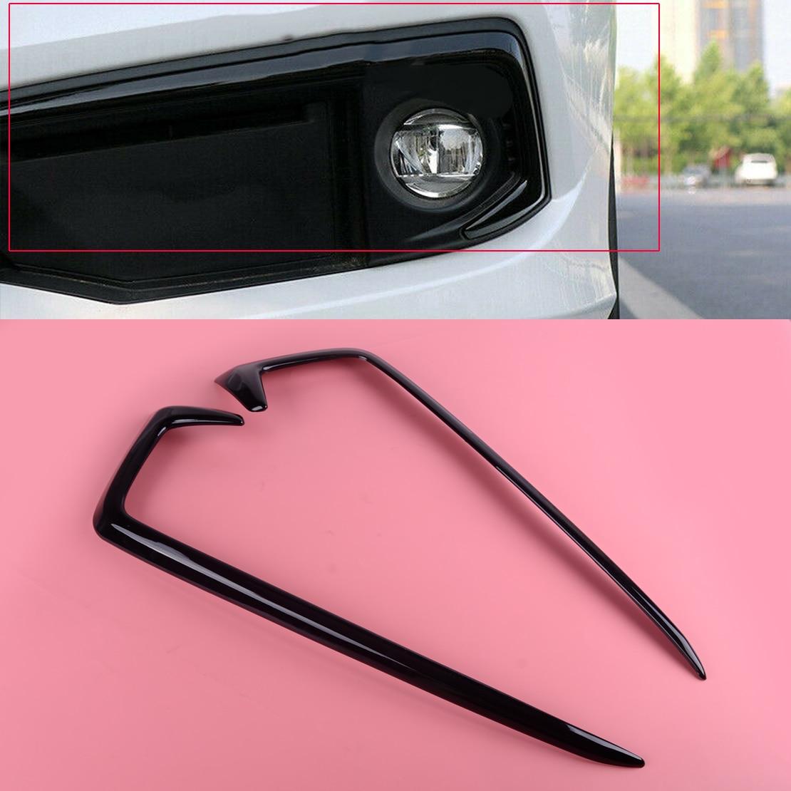 DWCX 2PCS 3D Sticker ABS Gloss Black Front Fog Light Lamp Hood Eyebrow Cover Trim Fit For Honda Civic 2019 2020|Car Stickers| |  -