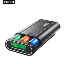 18650 carregador caso powerbank caixa de armazenamento da bateria tomo para 3.7 v lithion portátil diy display 2 entrada 5 v 2a saída max