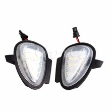 2X Direct Fit White LED Under Side Mirror Puddle Lights For VW GTi Golf MK6 6 MKVI 2 x turn signal lights under side mirror puddle 6 led lights for vw gti golf mk6 6 mkvi 2010 2014